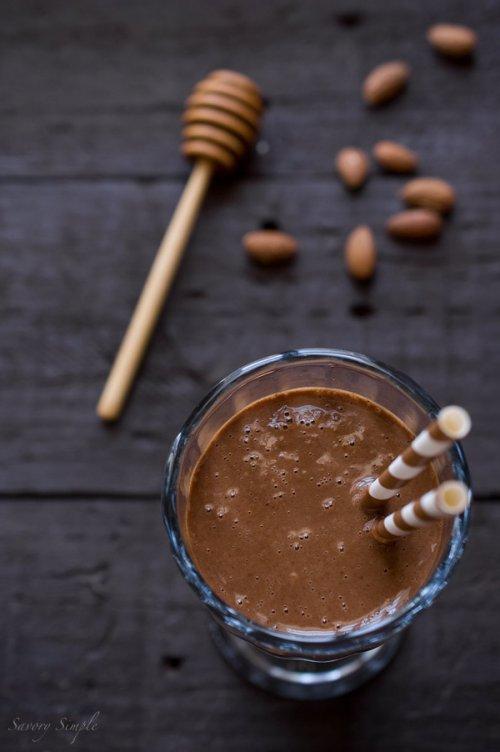 Batidos de proteínas de chocolate